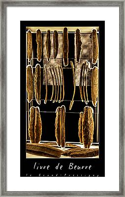 Le Grand Pressigny Livre De Beurre Framed Print by Weston Westmoreland