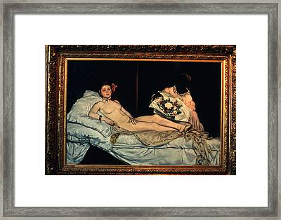 Le Grande Odalisque By Ingre Framed Print by Carl Purcell