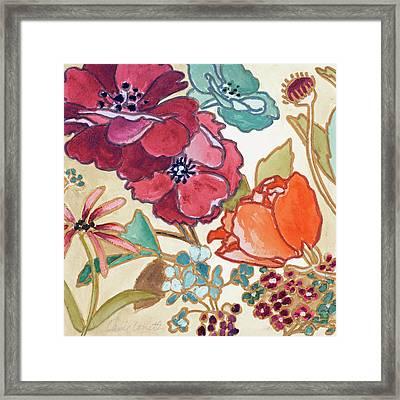 Le Jardin Colorful I Framed Print by Lanie Loreth