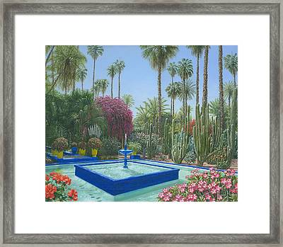 Le Jardin Majorelle Marrakech Morocco Framed Print by Richard Harpum