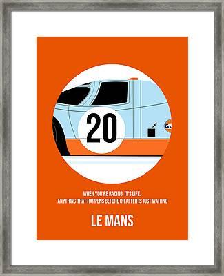 Le Mans Poster 2 Framed Print by Naxart Studio