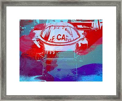 Le Mans Racer During Pit Stop Framed Print by Naxart Studio