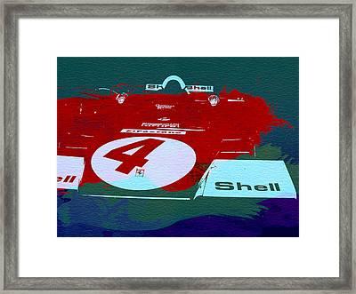 Le Mans Racing Car Detail Framed Print by Naxart Studio