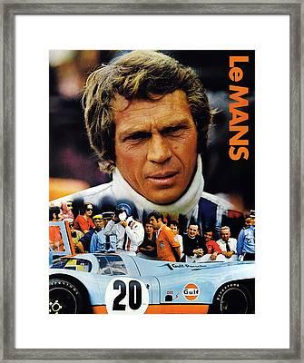 Le Mans, Top Steve Mcqueen Framed Print