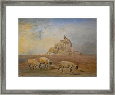 Le Mont Saint Michel Framed Print by Juan  Bosco