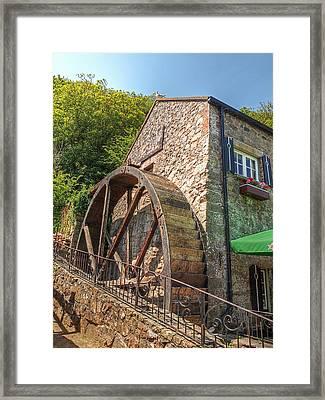 Le Moulin De Lecq Inn Framed Print by Gill Billington