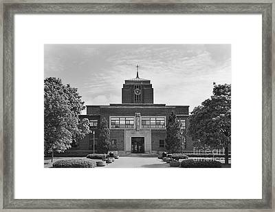 Le Moyne College Grewen Hall Framed Print by University Icons