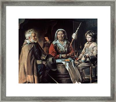 Le Nain Peasant Home Framed Print by Granger