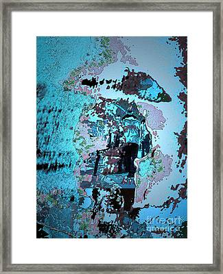 Framed Print featuring the digital art Le Parapluie by Mojo Mendiola