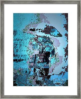 Le Parapluie Framed Print by Mojo Mendiola
