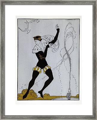 Le Pavillion D'armider Framed Print by Georges Barbier