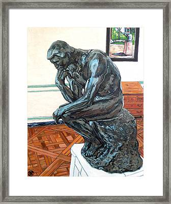 Le Penseur The Thinker Framed Print by Tom Roderick