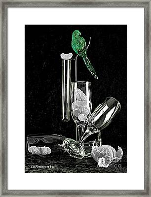 Framed Print featuring the photograph Le Perroquet Vert by Elf Evans