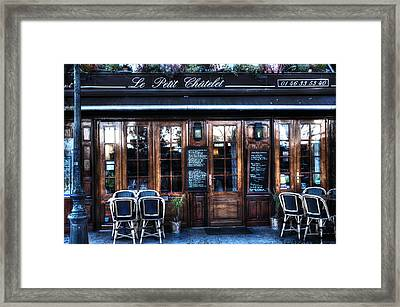 Le Petit Chatelet Paris France Framed Print