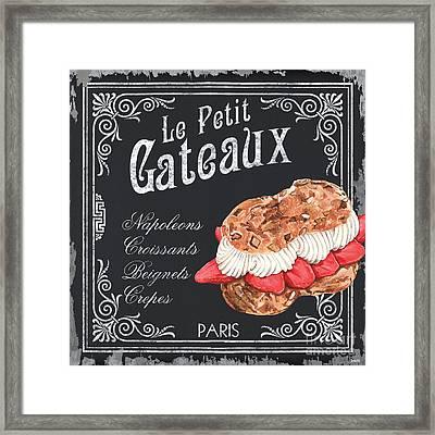 Le Petit Gateaux Framed Print