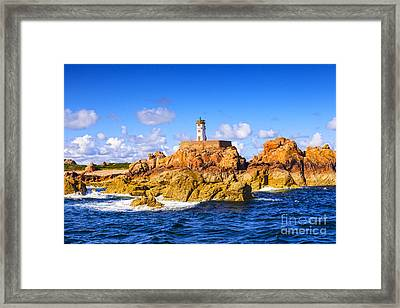 Le Phare Du Paon Lighthouse Brittany Ile De Brehat Framed Print by Colin and Linda McKie