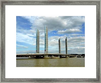 Le Pont Chaban Delmas Bordeaux 2 Framed Print