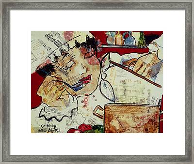 Le Potage Framed Print