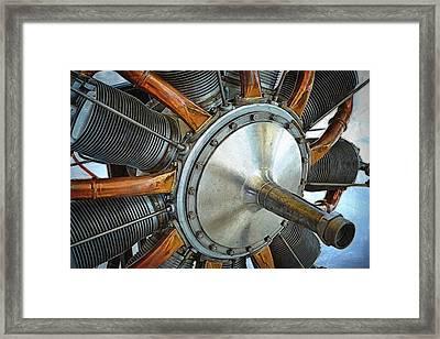 Le Rhone C-9j Engine Framed Print by Michelle Calkins
