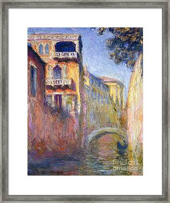 Le Rio De La Salute Framed Print by Claude Monet