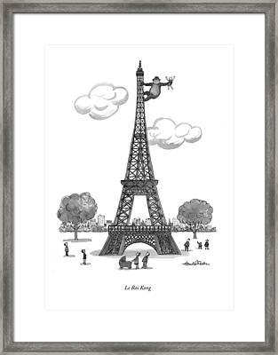 Le Roi Kong Framed Print by J.B. Handelsman