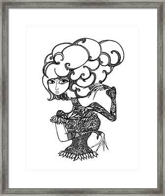 Le Samarai Framed Print