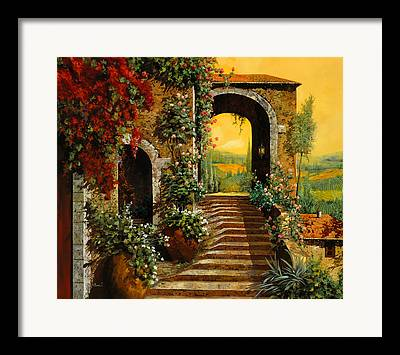 Wine Vineyard Framed Prints
