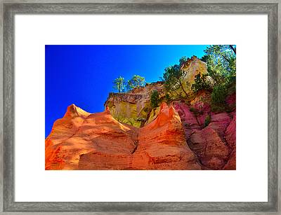Le Sentier Des Ocres Roussillon France Framed Print by Jeff Black