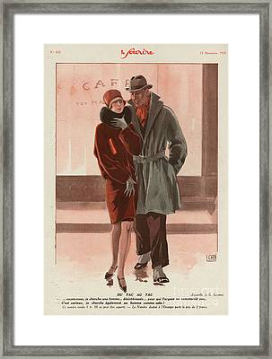 Le Sourire 1928 1920s France Womens Framed Print by The Advertising Archives