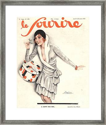 Le Sourire 1929 1920s France Mistletoe Framed Print by The Advertising Archives