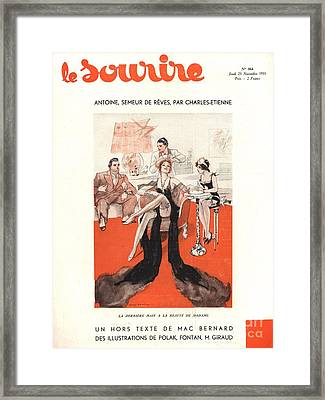 Le Sourire 1933 1930s France Glamour Framed Print by The Advertising Archives
