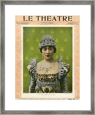 Le Theatre 1899 1890s France Magazines Framed Print by The Advertising Archives