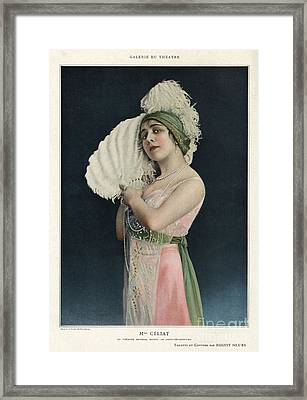 Le Theatre 1912 1910s France Mlle Framed Print by The Advertising Archives