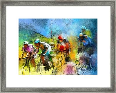 Le Tour De France 01 Framed Print by Miki De Goodaboom