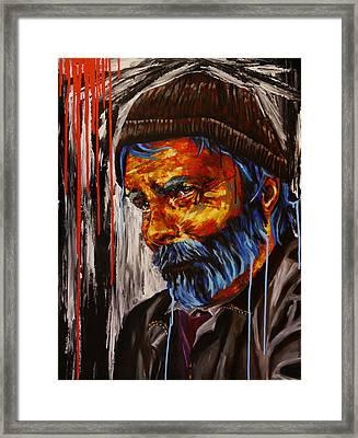 Sold Le Trottoir Du Saint Heure Sold Framed Print by Bazevian