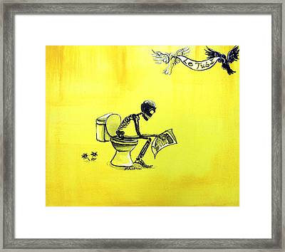 Le Tub I Framed Print by Heather Calderon