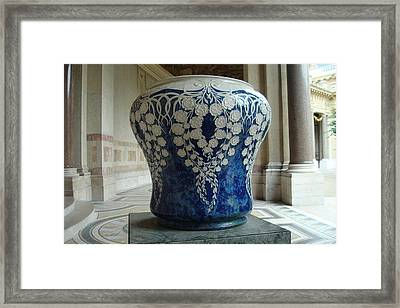 Framed Print featuring the photograph Le Vase Bleu by Kay Gilley
