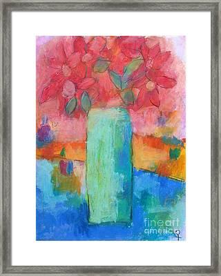 Le Vase Jardin Framed Print by Venus