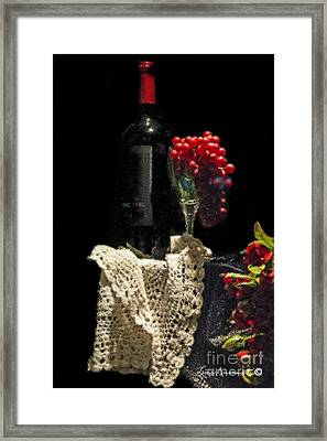 Le Vin Framed Print by Leona Arsenault