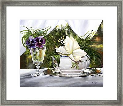 Le Viole Nel Bicchiere Framed Print