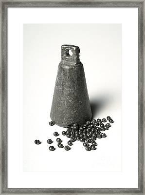 Lead Fishing Weights Framed Print by Martyn F. Chillmaid