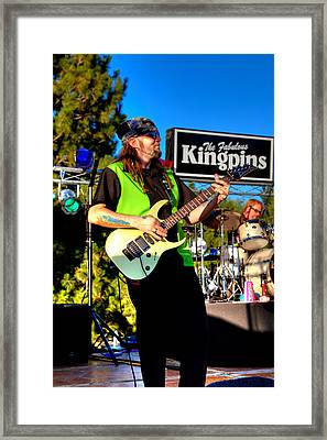 Lead Guitarist Jimmy Dence - The Fabulous Kingpins Framed Print by David Patterson