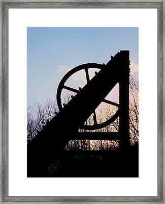 Lead Mine At Sunset Framed Print