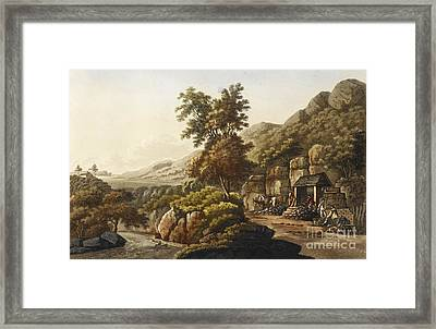 Lead Mine In Wales, 1798 Framed Print by British Library