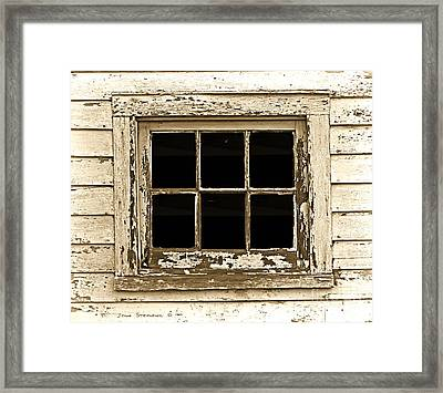 This Old Window Framed Print by John Stephens