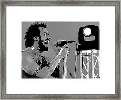 Lead Singer II Framed Print by James Hammen