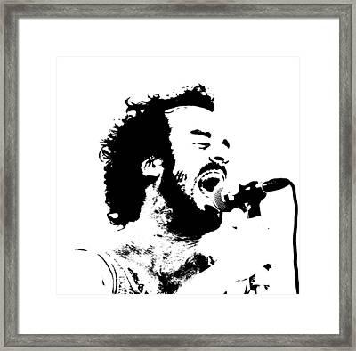 Lead Singer Framed Print by James Hammen