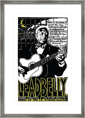 Leadbelly Framed Print by Ricardo Levins Morales