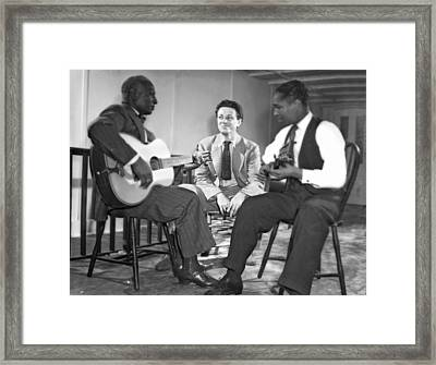 Leadbelly Sings The Blues Framed Print