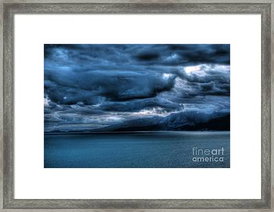 Leaden Clouds Framed Print